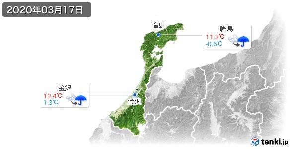 石川県(2020年03月17日の天気