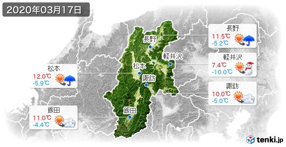 長野県(2020年03月17日の天気