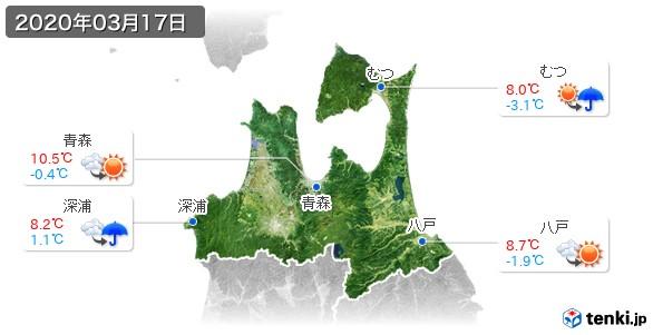 青森県(2020年03月17日の天気