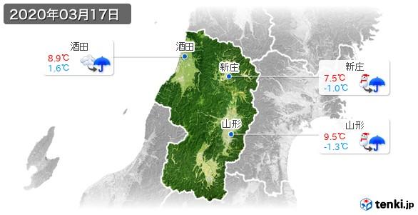 山形県(2020年03月17日の天気