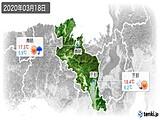 2020年03月18日の京都府の実況天気