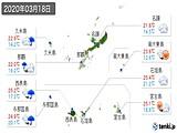 2020年03月18日の沖縄県の実況天気