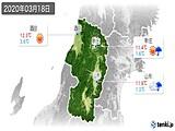 2020年03月18日の山形県の実況天気