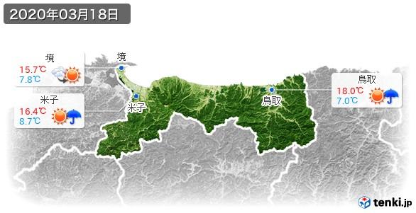 鳥取県(2020年03月18日の天気