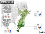 2020年03月19日の千葉県の実況天気