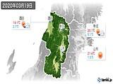 2020年03月19日の山形県の実況天気