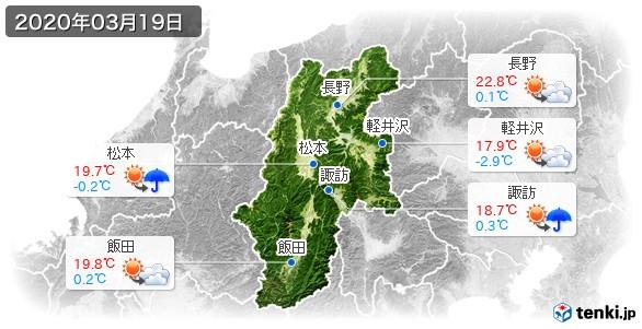 長野県(2020年03月19日の天気