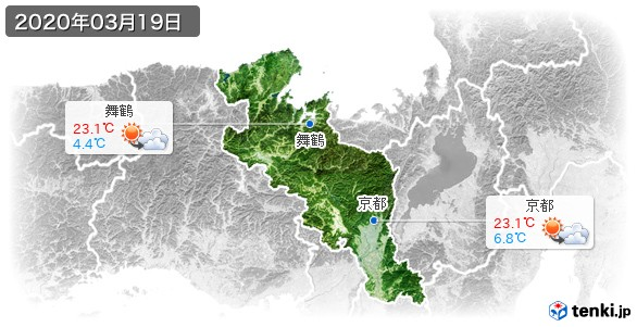 京都府(2020年03月19日の天気