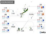 2020年03月20日の沖縄県の実況天気