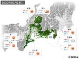 2020年03月21日の東海地方の実況天気