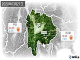 2020年03月21日の山梨県の実況天気