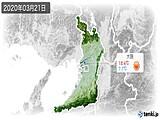 2020年03月21日の大阪府の実況天気