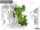 2020年03月21日の大分県の実況天気