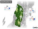 2020年03月21日の山形県の実況天気