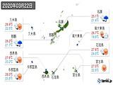 2020年03月22日の沖縄県の実況天気