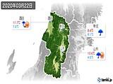 2020年03月22日の山形県の実況天気