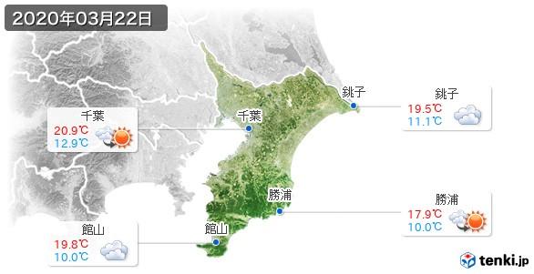 千葉県(2020年03月22日の天気