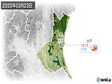 2020年03月23日の茨城県の実況天気