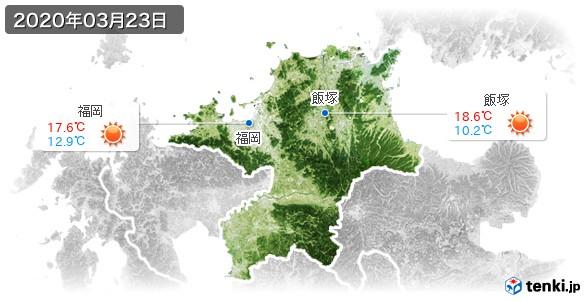 福岡県(2020年03月23日の天気