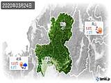 2020年03月24日の岐阜県の実況天気