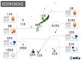 2020年03月24日の沖縄県の実況天気