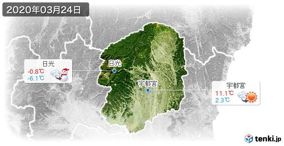 栃木県(2020年03月24日の天気