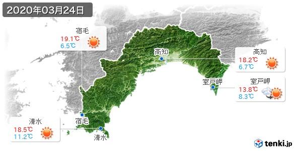 高知県(2020年03月24日の天気