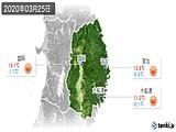 2020年03月25日の岩手県の実況天気