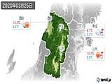 2020年03月25日の山形県の実況天気
