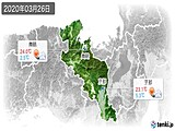 2020年03月26日の京都府の実況天気