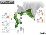 2020年03月26日の道南の実況天気