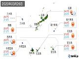 2020年03月26日の沖縄県の実況天気