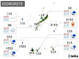 2020年03月27日の沖縄県の実況天気