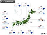 2020年03月27日の実況天気