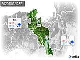 2020年03月28日の京都府の実況天気