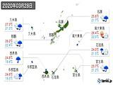 2020年03月28日の沖縄県の実況天気