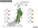 2020年03月29日の東北地方の実況天気