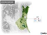 2020年03月29日の茨城県の実況天気