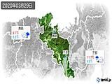 2020年03月29日の京都府の実況天気