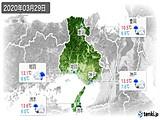 2020年03月29日の兵庫県の実況天気