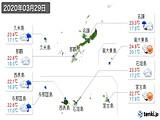 2020年03月29日の沖縄県の実況天気