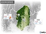 2020年03月30日の栃木県の実況天気
