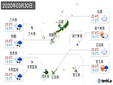 2020年03月30日の沖縄県の実況天気