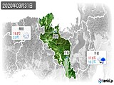 2020年03月31日の京都府の実況天気