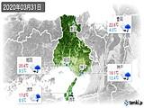 2020年03月31日の兵庫県の実況天気
