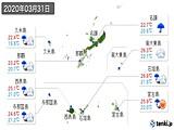 2020年03月31日の沖縄県の実況天気