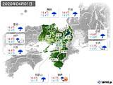2020年04月01日の近畿地方の実況天気