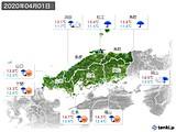 2020年04月01日の中国地方の実況天気