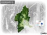 2020年04月01日の群馬県の実況天気