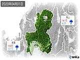 2020年04月01日の岐阜県の実況天気